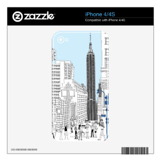 Walking Tourists Skins For iPhone 4S