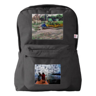 Walking towards the lake american apparel™ backpack