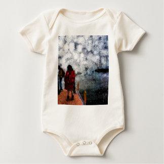 Walking towards the lake baby bodysuit