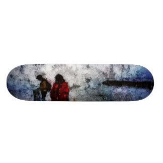 Walking towards the lake skateboard deck