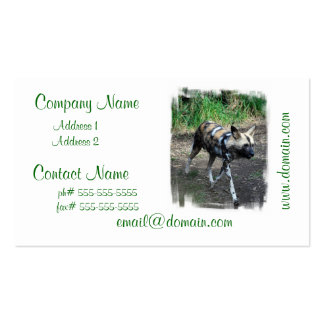 Walking Wild Dog Business Cards