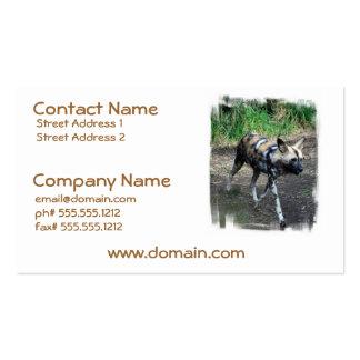 Walking Wild Dog Business Cards