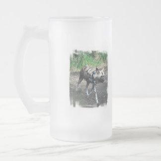 Walking Wild Dog Frosted Mug