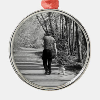 Walking With Daddy Christmas Ornament