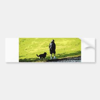 Walking With Friend Bumper Sticker