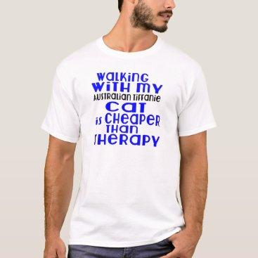 McTiffany Tiffany Aqua Walking With My Australian Tiffanie Cat Designs T-Shirt
