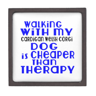 Walking With My Cardigan Welsh Corgi Dog Designs Keepsake Box