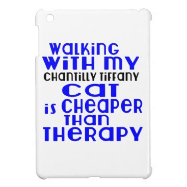 McTiffany Tiffany Aqua Walking With My Chantilly Tiffany Cat Designs iPad Mini Covers