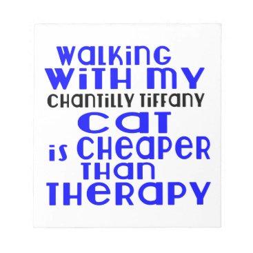 McTiffany Tiffany Aqua Walking With My Chantilly Tiffany Cat Designs Notepad