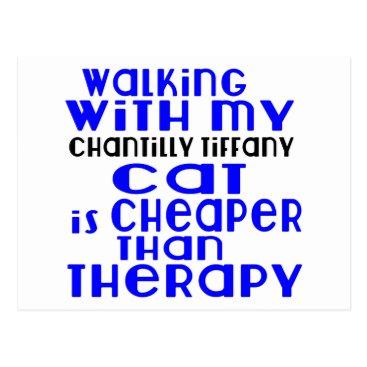 McTiffany Tiffany Aqua Walking With My Chantilly Tiffany Cat Designs Postcard