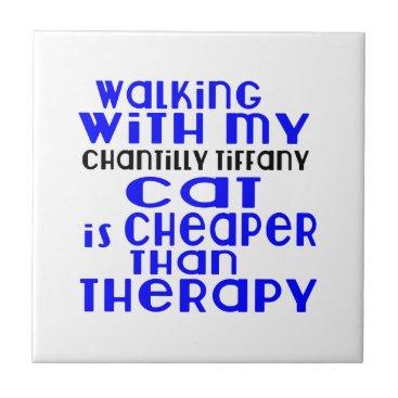 McTiffany Tiffany Aqua Walking With My Chantilly Tiffany Cat Designs Tile