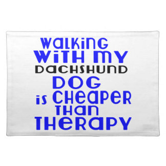 Walking With My Dachshund Dog  Designs Placemat
