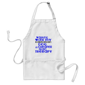 Walking With My Dalmatian Dog  Designs Adult Apron