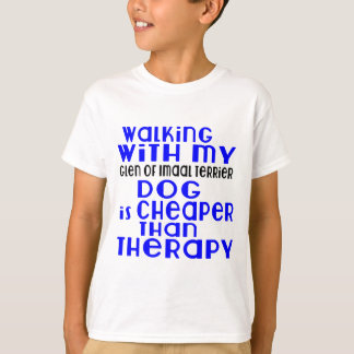 Walking With My Glen of Imaal Terrier Dog  Designs T-Shirt
