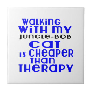 Walking With My Jungle-bob Cat Designs Tile