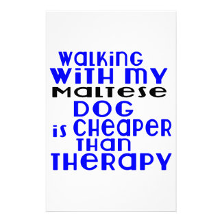 Walking With My Maltese Dog  Designs Stationery