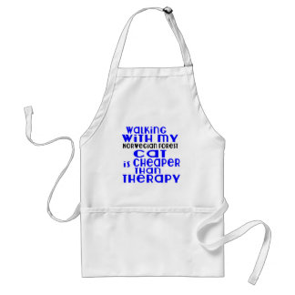 Walking With My Norwegian Forest Cat Cat Designs Adult Apron