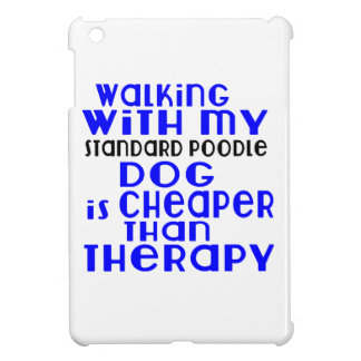 Walking With My Standard Poodle Dog Designs iPad Mini Cover