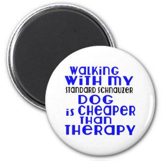 Walking With My Standard Schnauzer Dog Designs Magnet