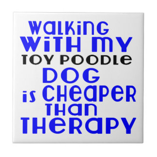 Walking With My Toy Poodle Dog Designs Ceramic Tile