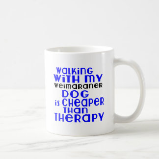 Walking With My Weimaraner Dog Designs Coffee Mug