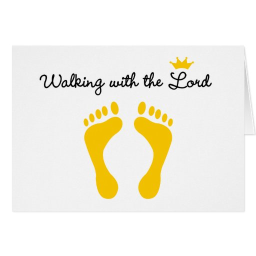 Walking with the Lord Card