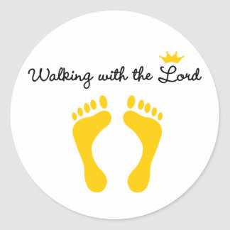 Walking with the Lord Sticker