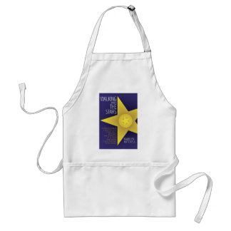 WALKING WITH THE STARS by Marilyn Mitchell Adult Apron