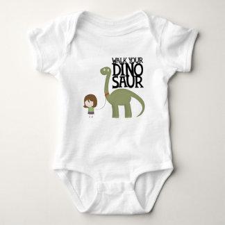 Walking your dinosaur baby bodysuit