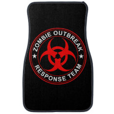 Walking Zombie Dead Response Team Car Floor Mats at Zazzle