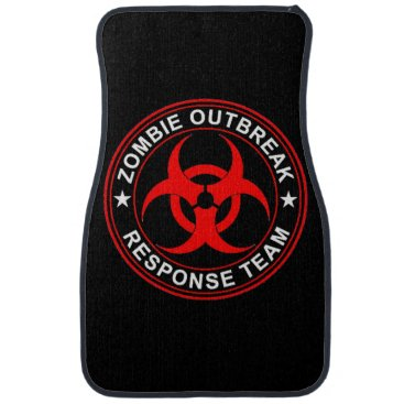 Sturgils Walking Zombie Dead Response Team Car Floor Mats