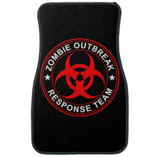 Walking Zombie Dead Response Team Car Floor Mats Floor Mat