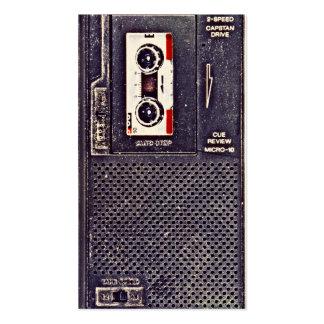 walkman de los años 80 tarjetas de visita