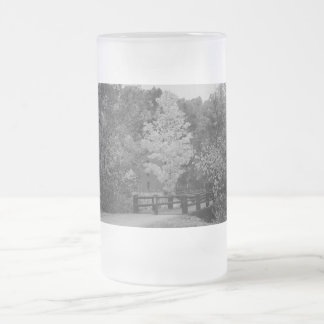 Walkway Bridge to Alley Mill Grayscale Frosted Glass Beer Mug