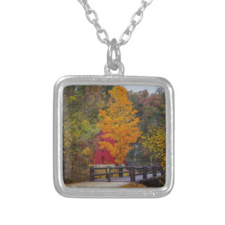 Walkway Bridge To Alley Mill Silver Plated Necklace