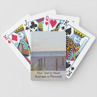 walkway florida beach dune sunrise bicycle playing cards