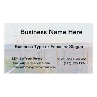 walkway florida beach dune sunrise business card template