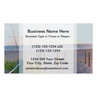 walkway florida beach dune sunrise business cards