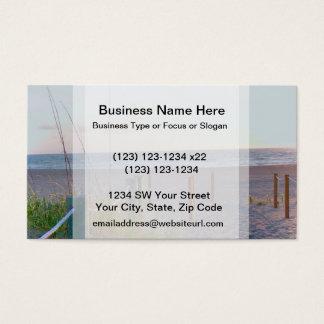 walkway florida beach dune sunrise business card