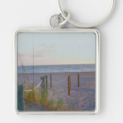 walkway florida beach dune sunrise key chain