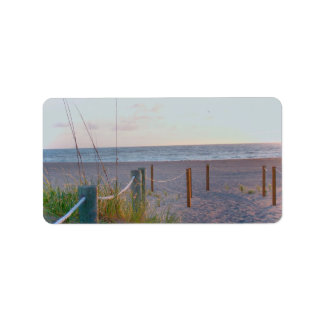 walkway florida beach dune sunrise address label