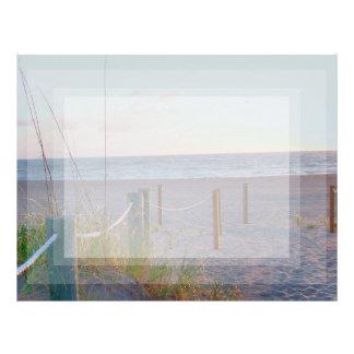 walkway florida beach dune sunrise letterhead template