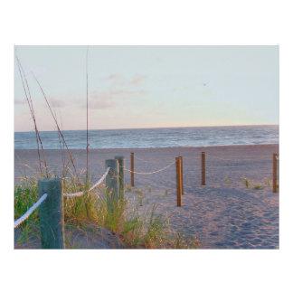 walkway florida beach dune sunrise custom letterhead