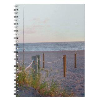 walkway florida beach dune sunrise spiral note book