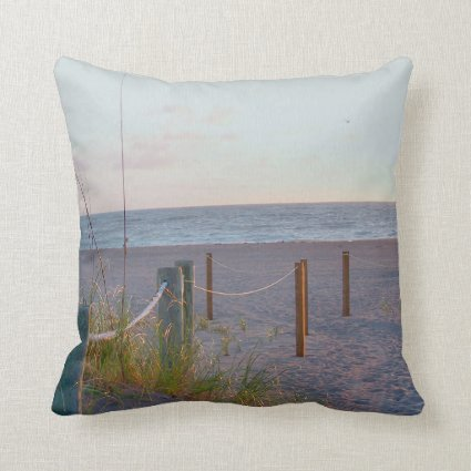 walkway florida beach dune sunrise pillows