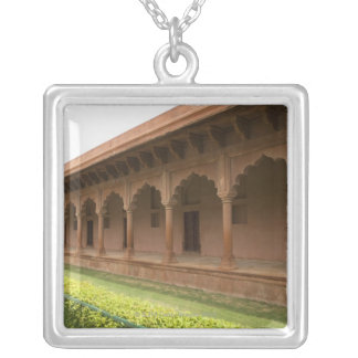 Walkway in front of a mausoleum, Taj Mahal, Silver Plated Necklace