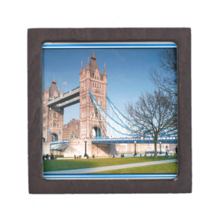 Walkway only bridge in London UK fun picnic spot Premium Gift Box