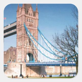 Walkway only bridge in London UK fun picnic spot Square Sticker