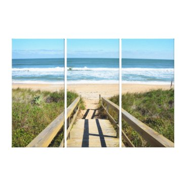 Beach Themed Walkway to the beach canvas print