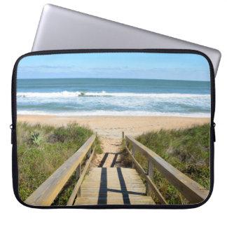 Walkway to the beach computer sleeve